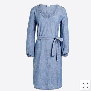 NWT J. Crew Factory Chambray Dress sz. XS
